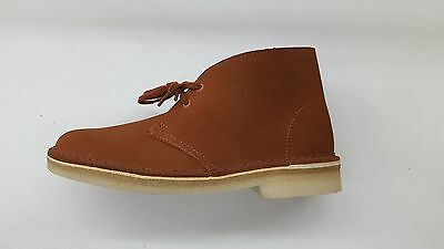 d3884d6ad3c CLARKS ORIGINALS DESERT Boot Dark Tan Suede Womens Size Casual Shoes Boots  19945