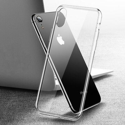 iPhone XR Case Clear Ultra Thin Slim TPU Gel Skin Cover Pouch for Apple