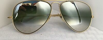 Ray Ban vintage Sunglasses 1/10 12K frames, 58mm, double gradient, mirrored