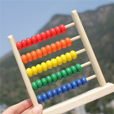 Children Wooden Bead Abacus Counting Frame Educational Learning Math Toy S