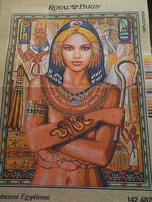"""Tapestry Canvas """" Princesse Egyptienne """"  New by Royal Paris"""
