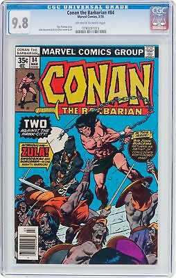 Conan the Barbarian #84 (Marvel, 1978) CGC NM/MT 9.8 Off White to White Pages