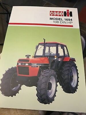 Rare early merger version Case IH 1694 tractor brochure David Brown Meltham