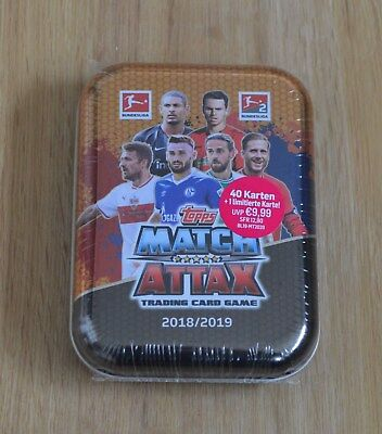 Topps Match Attax 18/19 Mini Tin Box inkl. limitierte Auflage L9 2018/2019