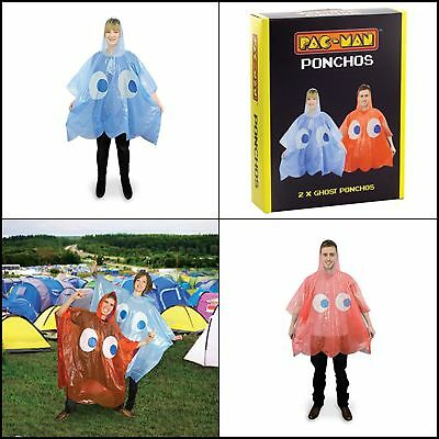 Paladone 2 PacMan Ghost Rain Ponchos Outerwear Unisex Adult Clothing Shoes Accs