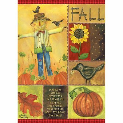 Fall Scarecrow Outdoor Flag-Large - 29 x 43, Lang Folk Art by Lang Companies