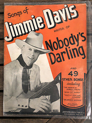 JIMMIE DAVIS song folio COUNTRY   Southern Music Publishing 1937 Ralph Peer 63pp