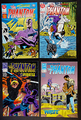 "Lot Of 4 ""lee Falk's Phantom"" New Format Dc Comic Books #1–3, #6 1988, 1989"
