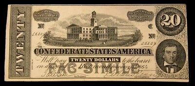 Dr. Morse's Indian Root Pills Advertising Note on Facsimile 1864 CSA $20 - VF+