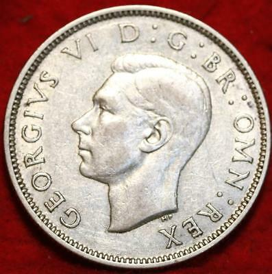 1941 Great Britain Two Shillings Silver Foreign Coin