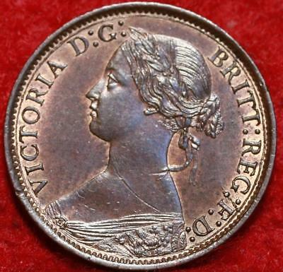 Uncirculated 1866 Great Britain Farthing Foreign Coin