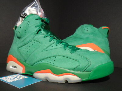 65f9a6b2e69465 Nike Air Jordan Vi 6 Retro Nrg G8Rd Gatorade Pine Green Orange Aj5986-335  10.5