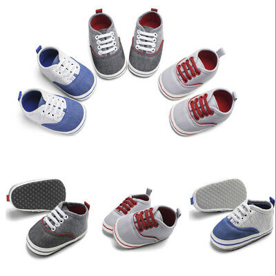 Baby Boys Newborn Infant Baby Casual First Walker  Shoes Toddler Soft Sole Shoes
