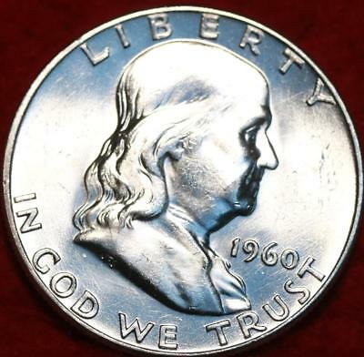 Uncirculated 1960 Philadelphia Mint Silver Franklin Half