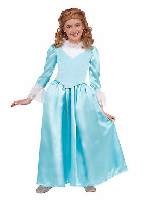 Blue Colonial Lady Girls Child Renaissance Halloween Costume