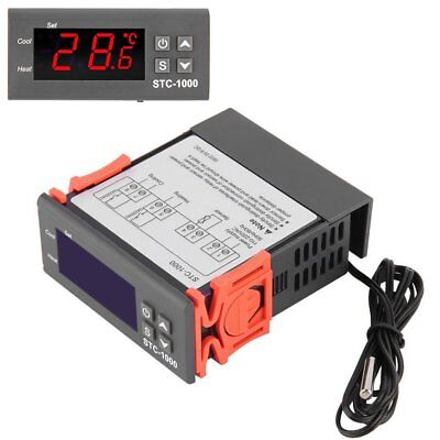 220V Digital LCD Temperaturregler Thermostat Fühler Kit NTC Sensor -40~120°C