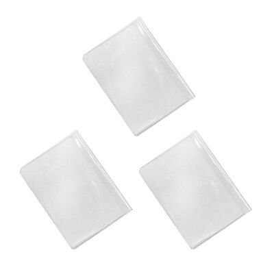 3Pcs Waterproof Travel Passport Cover Plastic ID Card Protector Case Clear