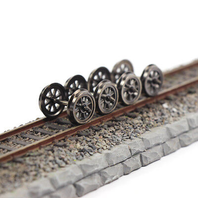 HP1487 12pcs HO Scale 36'' Metal Wheels for Model Train 1:87 DC Wheel set