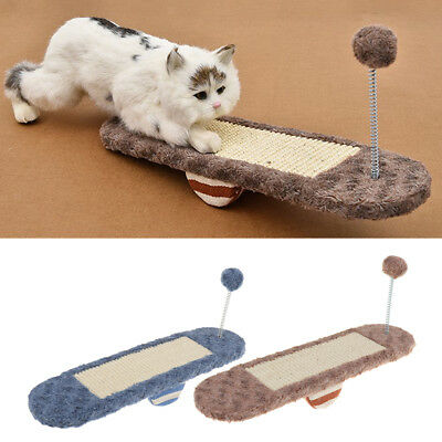 Cat Scratch Board with Ball Cat Bed House Mat Pet Scratcher Interactive Toy