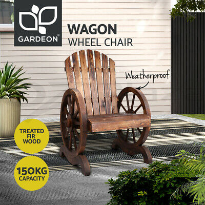 Gardeon Wooden Wagon Chair Outdoor Furniture Indoor Garden Lounge Patio