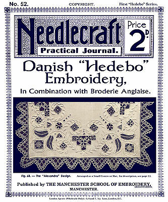 Needlecraft Practical Journal #52 c.1906 Danish Hedebo Embroidery Instructions