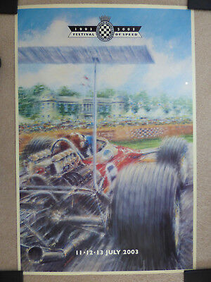 GOODWOOD FESTIVAL of SPEED  1993-2003 Signed  Ltd Edition Poster