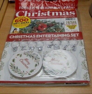 The Christmas magazine 2018 + Coasters, Place Settings & Glass Charms