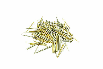 Assorted Pack of 100 Brass & Steel Tapered Pins Clock Repairs Parts X1159