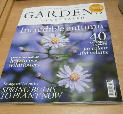 Gardens Illustrated magazine OCT 2018 How to use WIldflowers, Spring Bulbs &more