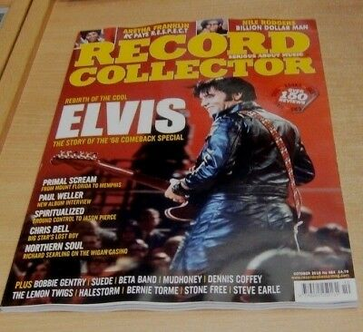 Record Collector magazine OCT 2018 Elvis '68, Nile Rodgers, Primal Scream & more