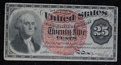 Nice 1863 Fractional Currency 25 Cent Note - Fourth Issue.