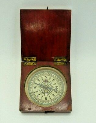 Small Antique Wooden  Compass