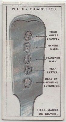 Silver Hallmarks Tell Purity Silversmith Place Manufacture 95+ Y/O Trade Ad Card