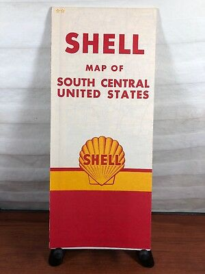 Vintage Shell Gas & Oil Collectible Advertising United States Road Map Rt 66