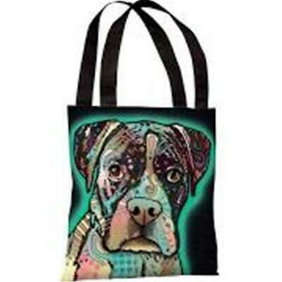 One Bella Casa 71847TT18P 18 in. Love Thy Boxer Polyester Tote Bag by Dean Russo