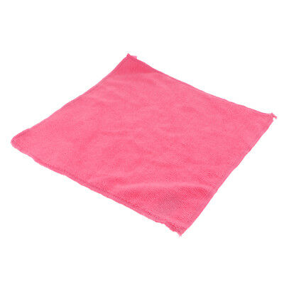 29x29cm Microfibre Cleaning Car Detailing Cloths Dish Wash Towel Duster Pink