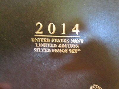 2014 Us Mint Limited Edition Silver Proof Set   Box And Coa