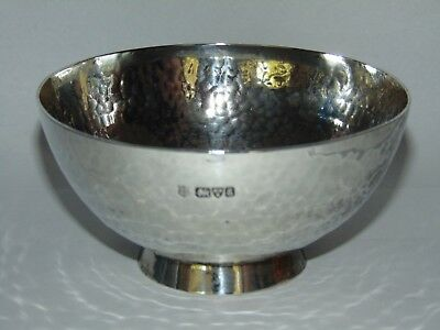 STYLISH ANTIQUE ARTS & CRAFTS 1905 SILVER BOWL by G NATHAN & R HAYES CHESTER