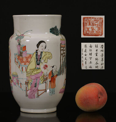 A BEAUTIFUL antique CHINESE PORCELAIN QIANJIANG FENCAI VASE GUANGXU 1900