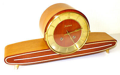 Chiming Mantel Clock Junghans Art Deco Bauhaus Germany In Top Condition