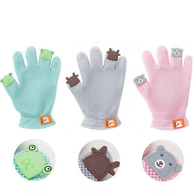 Dog Cat Bath Grooming Washing Clean Massage Glove Fur Cleaning Pet Hair Brush D