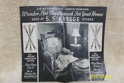 1939 Wonder Art Needlework Catalog Sold At S.s.kresge Stores - Embroidery Guide