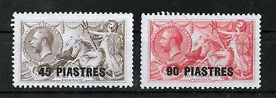 """BRITISH LEVANT 1921 Mint LH KGV """"SEAHORSE"""" Set of 2 Stamps Unchecked"""