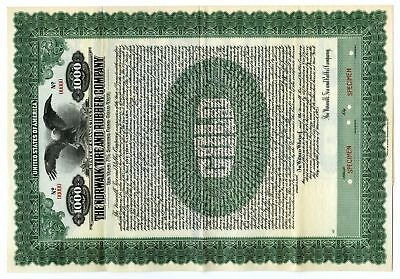 CT. Norwalk Tire and Rubber Co 1925 Specimen $1000 7% Gold Coupon Bond VF ABN