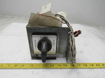 Salzer S608LUS3739-01GA Rotary Cam By-Pass Switch Manual Motor Control