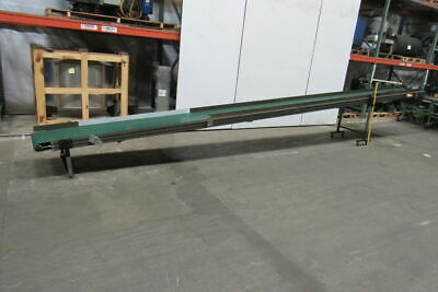 "24' 3""x 18""W Adjustable Incline Slide Bed Conveyor 22 FPM 115V 1 Ph"
