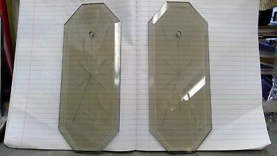 Vintage Beveled 8 Sided Starburst Smoke Glass Panel Lamp Chandelier Replacement