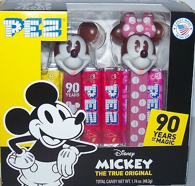 New Release 2018 Pez Dispenser~Mickey 90th Twin Pack~~Mint in Box.-.
