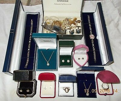 Job Lot of Vintage & Modern Jewellery Including 925 Sterling Silver & Cameo