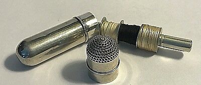 Antique  Sterling Silver Etui Thimble and Thread Needle Holder Sewing #497